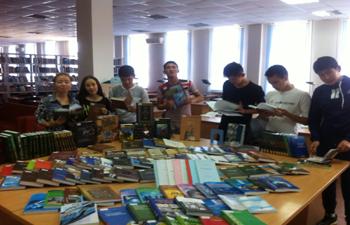«Білім» ақпараттық қызмет. Ғылыми қызметкерлер мен студенттер үшін  арналған кітап көрмесі