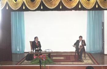 Көрнекті жазушы, Халықаралық «Алаш» сыйлығының лауреаты Жанат Ахмадидің  оқырмандармен  кездесу  кеші